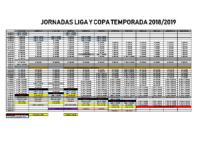 Jornadas liga y copa 2018-19